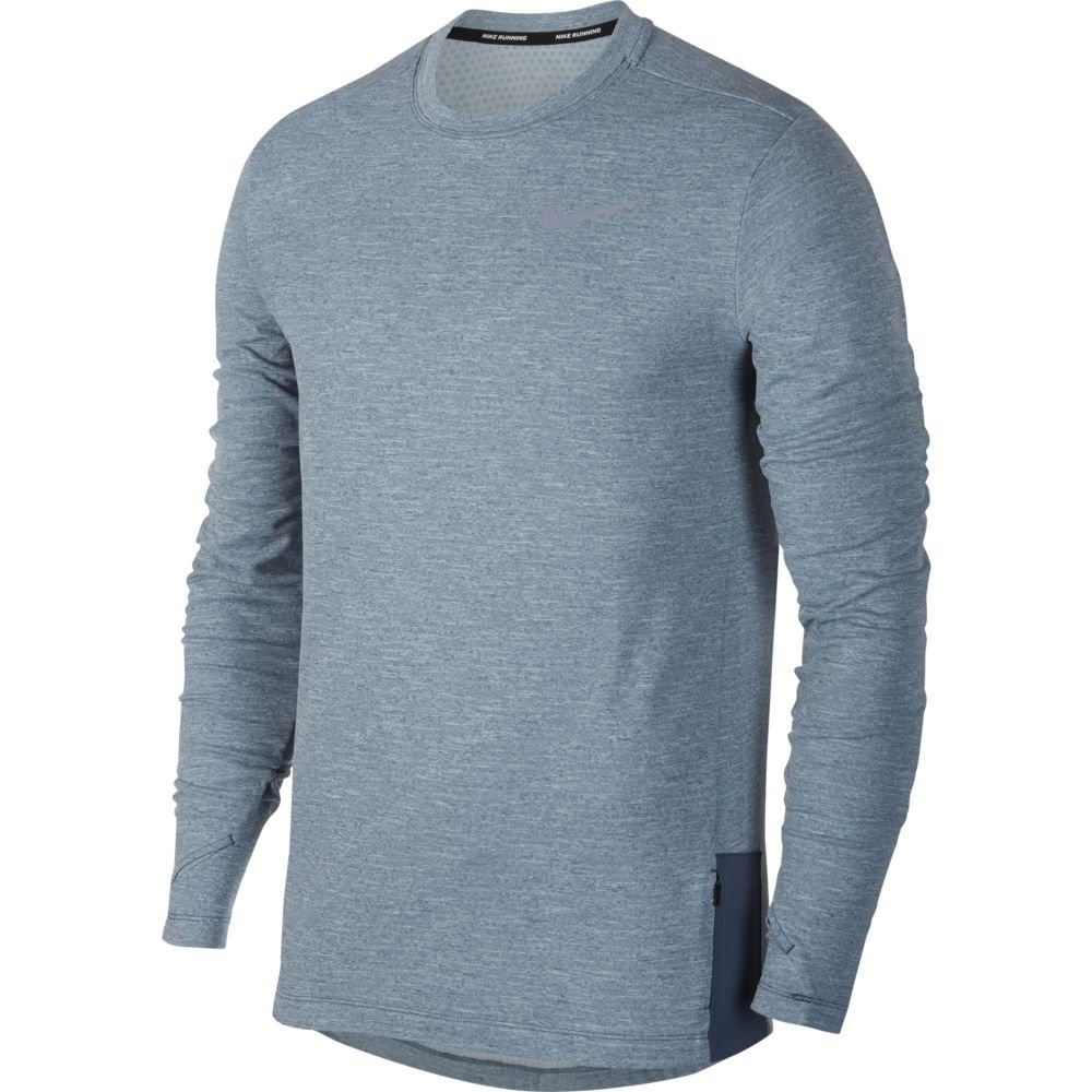 nike therma sphere 2.0 long-sleeve top m stalowo-niebieska