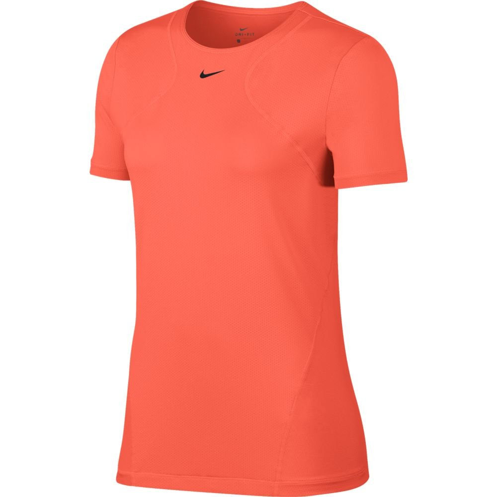 nike pro all over mesh ss top w koralowa
