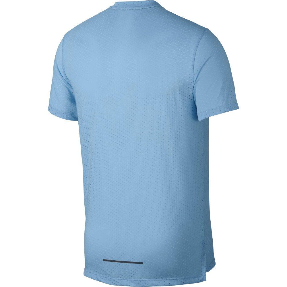 nike rise 365 short-sleeve top m stalowo-niebieska
