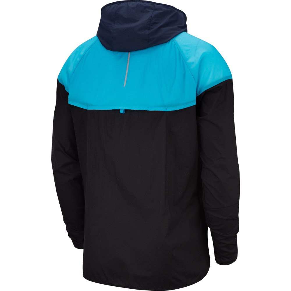 nike windrunner jacket m niebiesko-czarna