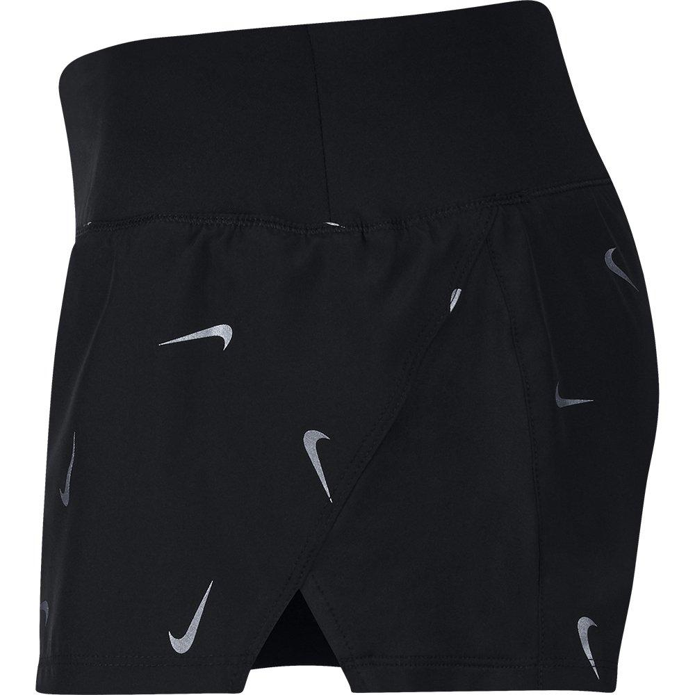 nike crew 3 inch printed shorts w srebrno-czarne