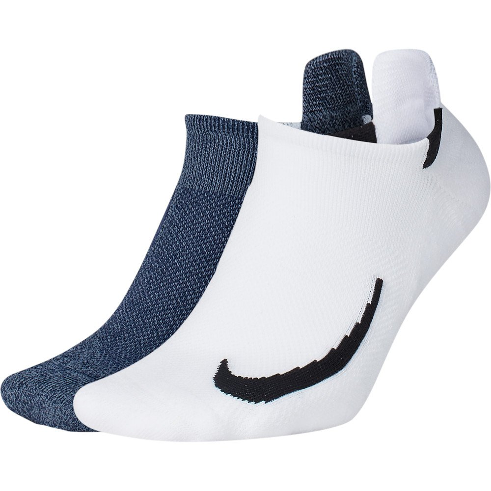 nike multiplier 2 pair no-show socks u multikolor