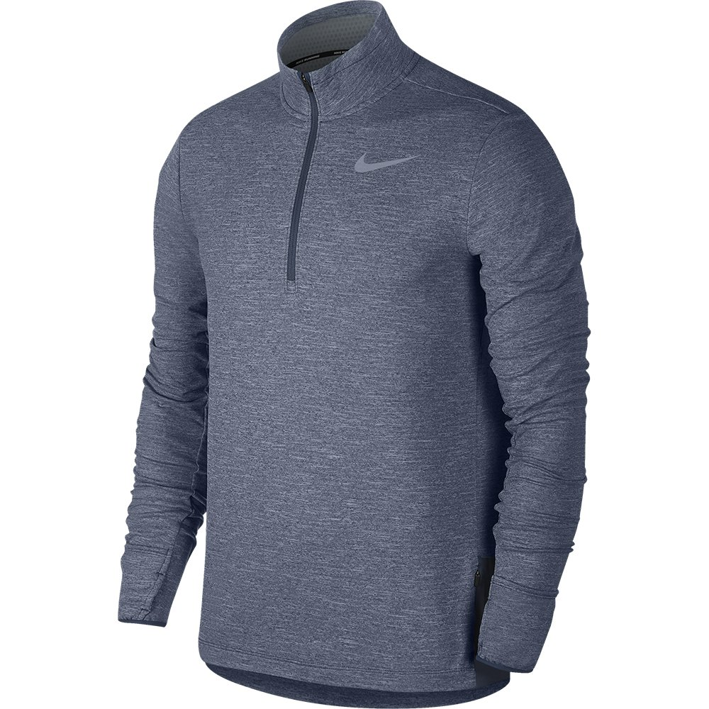 nike therma sphere element half-zip top m stalowo-niebieska