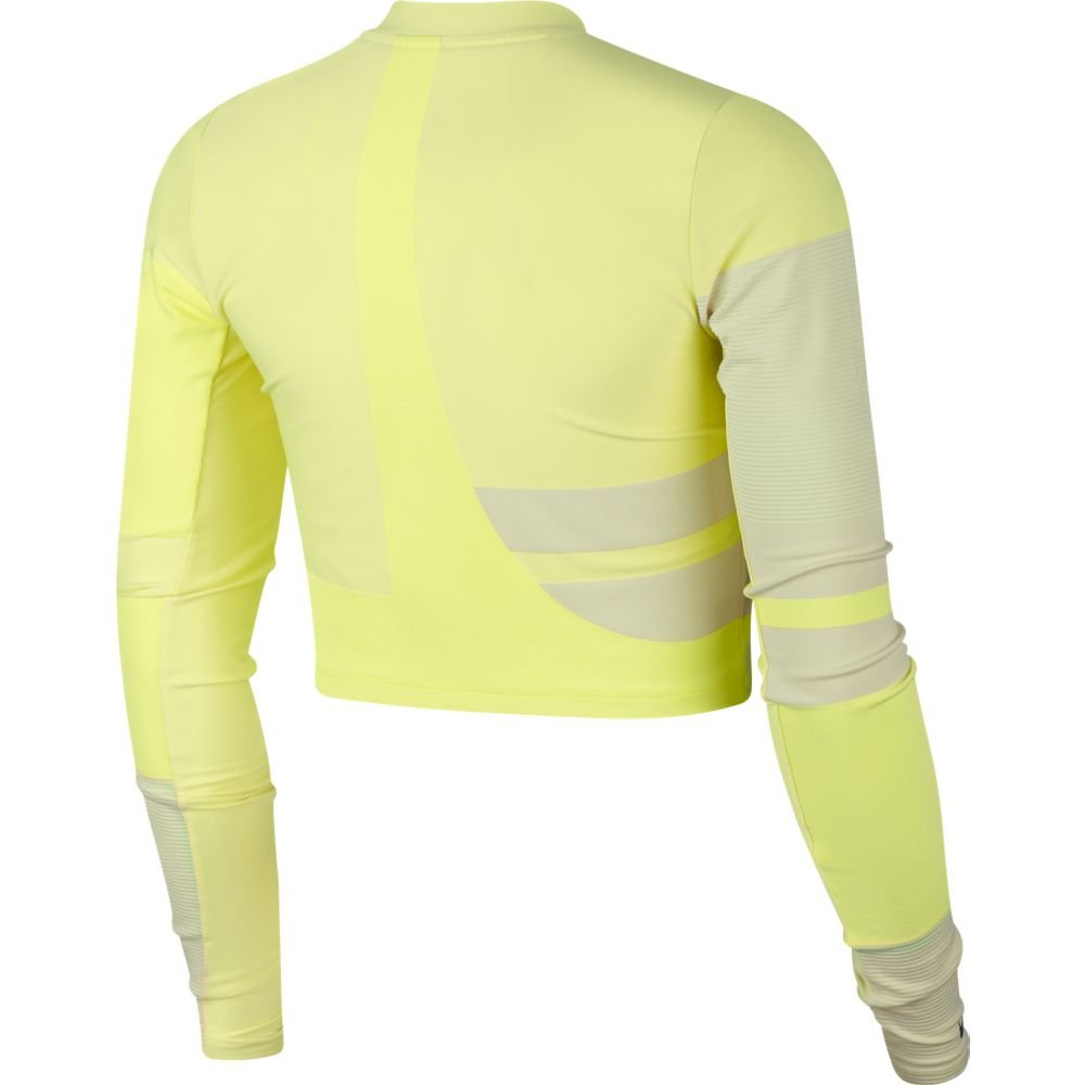 nike run tech pack knit ls top w jaskrawo-limonkowa