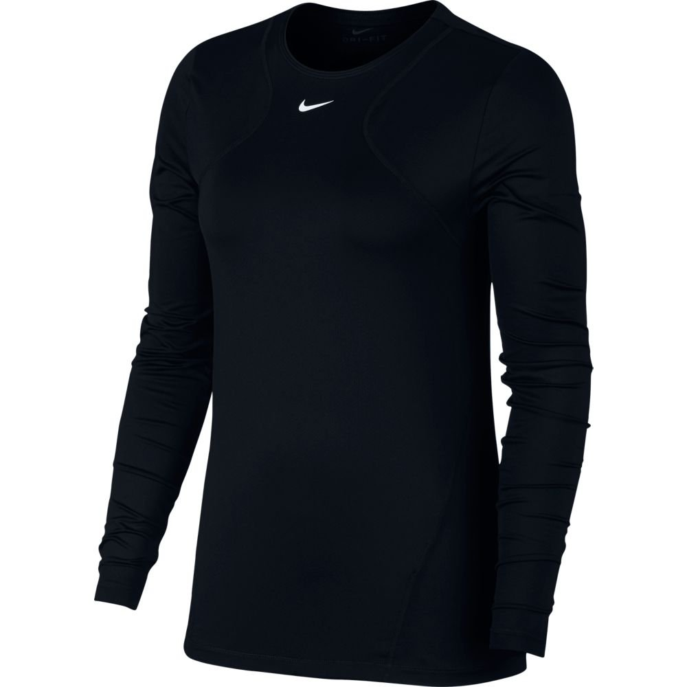 nike pro long-sleeve all over mesh top w czarna