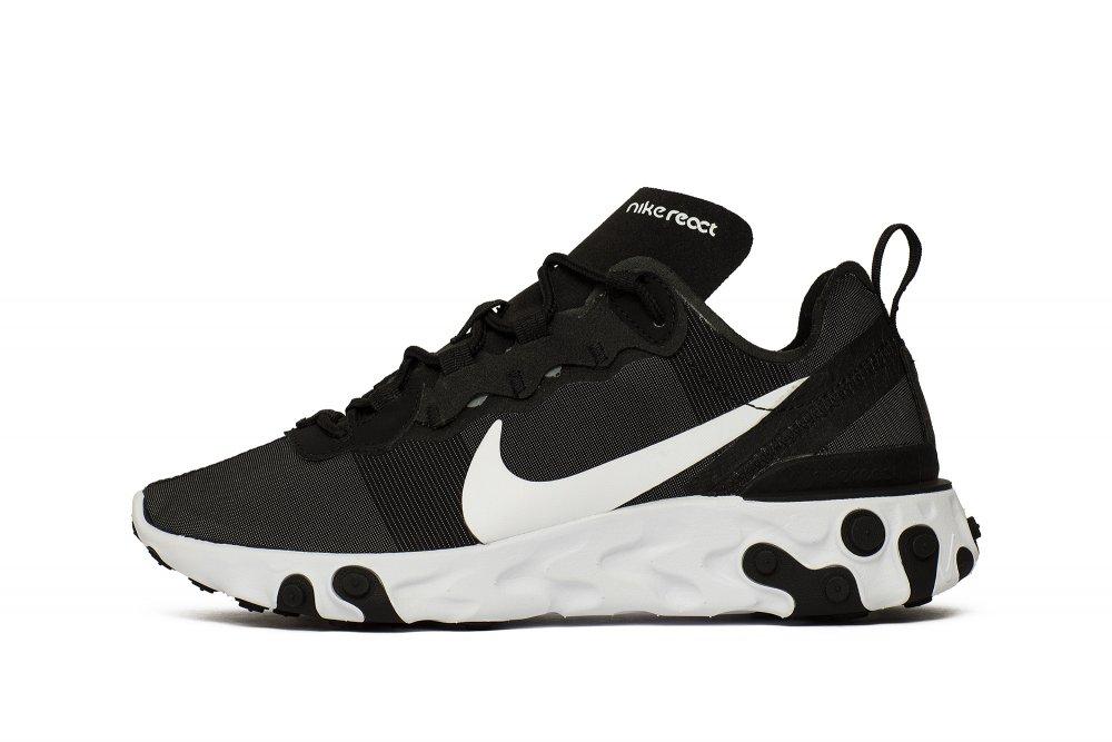 Nike Wmns React Element 55 Damskie Czarne (BQ2728 003)