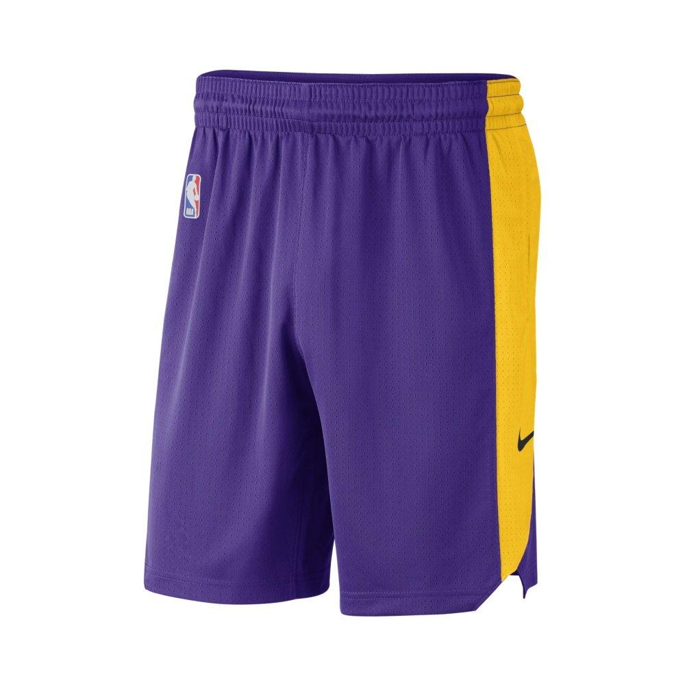 nike nba los angeles lakers practice shorts (aj5077-504)