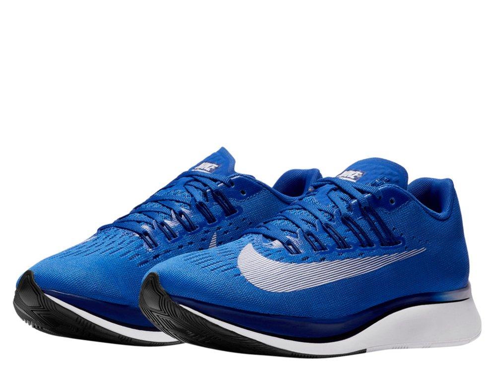 buty nike zoom fly w niebiesko-biaŁy