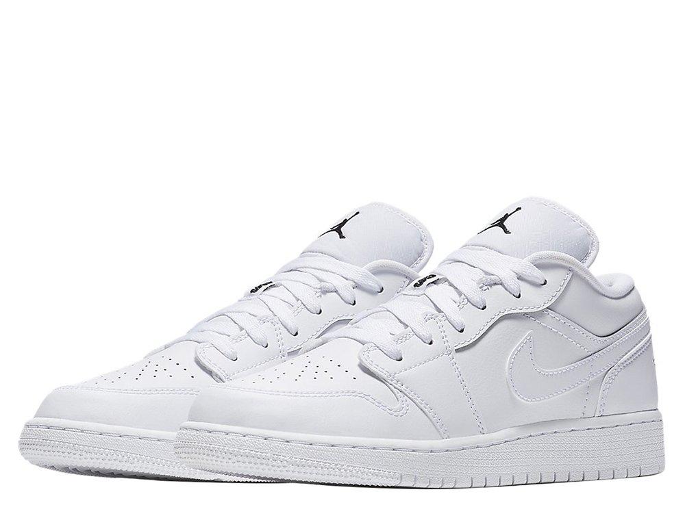 "air jordan 1 low (gs) ""white"" (553560-101)"