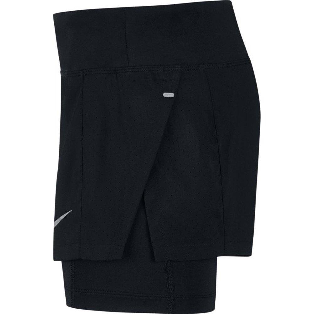 nike eclipse 2-in-1 shorts w czarne
