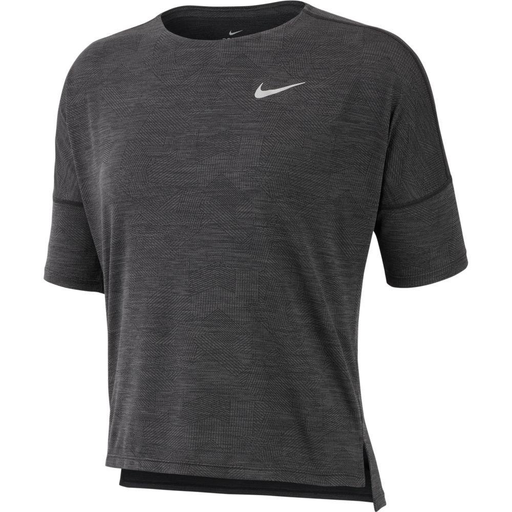 nike dri-fit medalist short-sleeve top w grafitowo-czarna