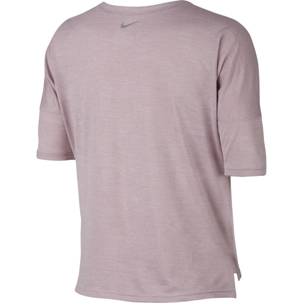 nike dry medalist top short sleeve w różowa