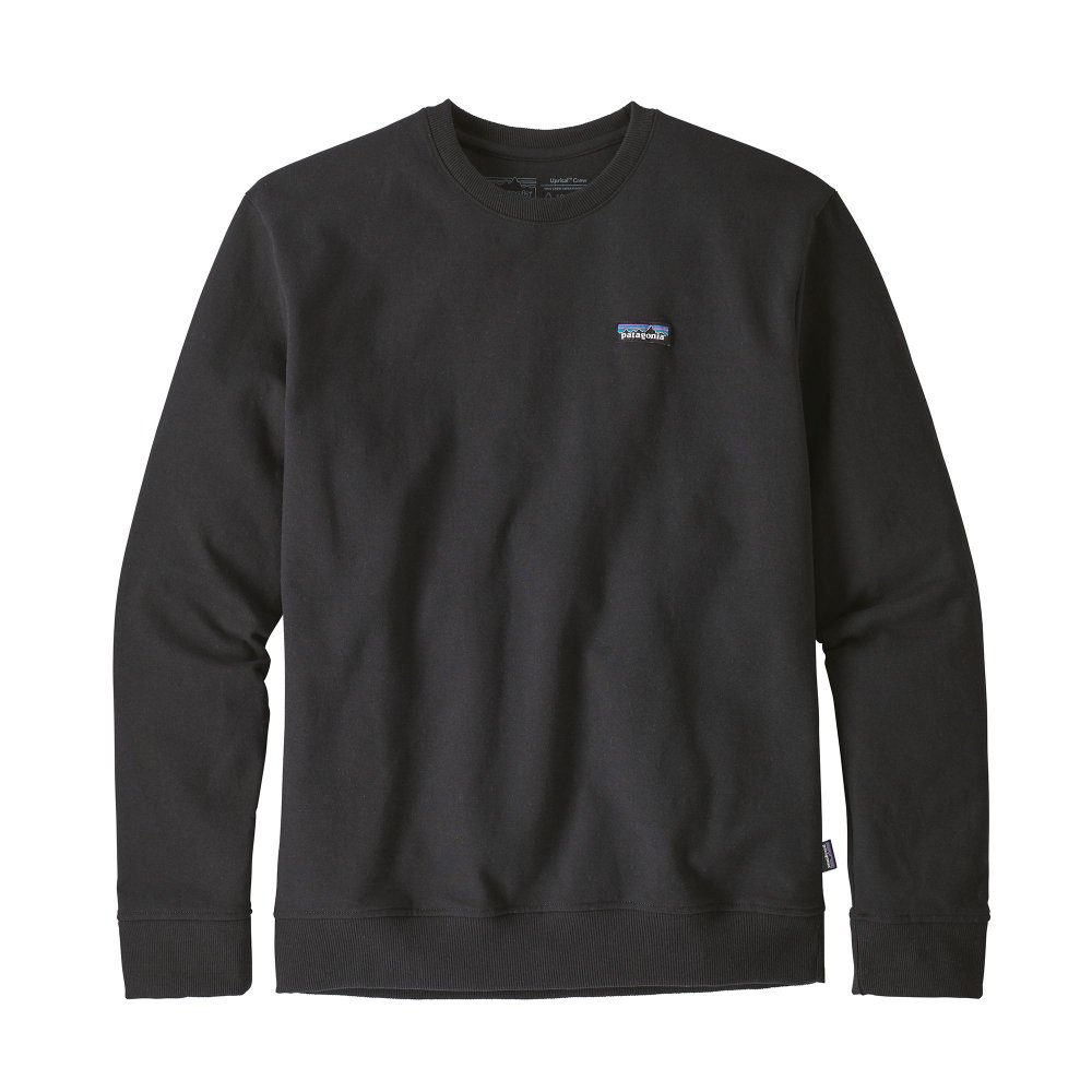 patagonia men's p-6 label uprisal crew sweatshirt (39543-blk)