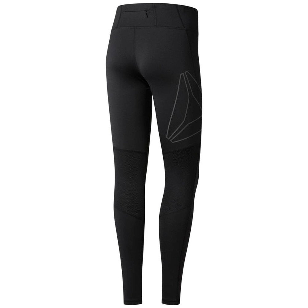 reebok running reflective tights w czarne