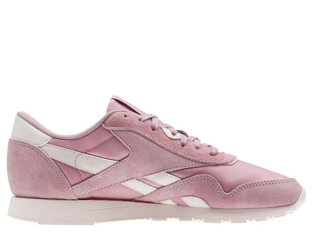 reebok classic leather nylon damskie różowe (cn2886)
