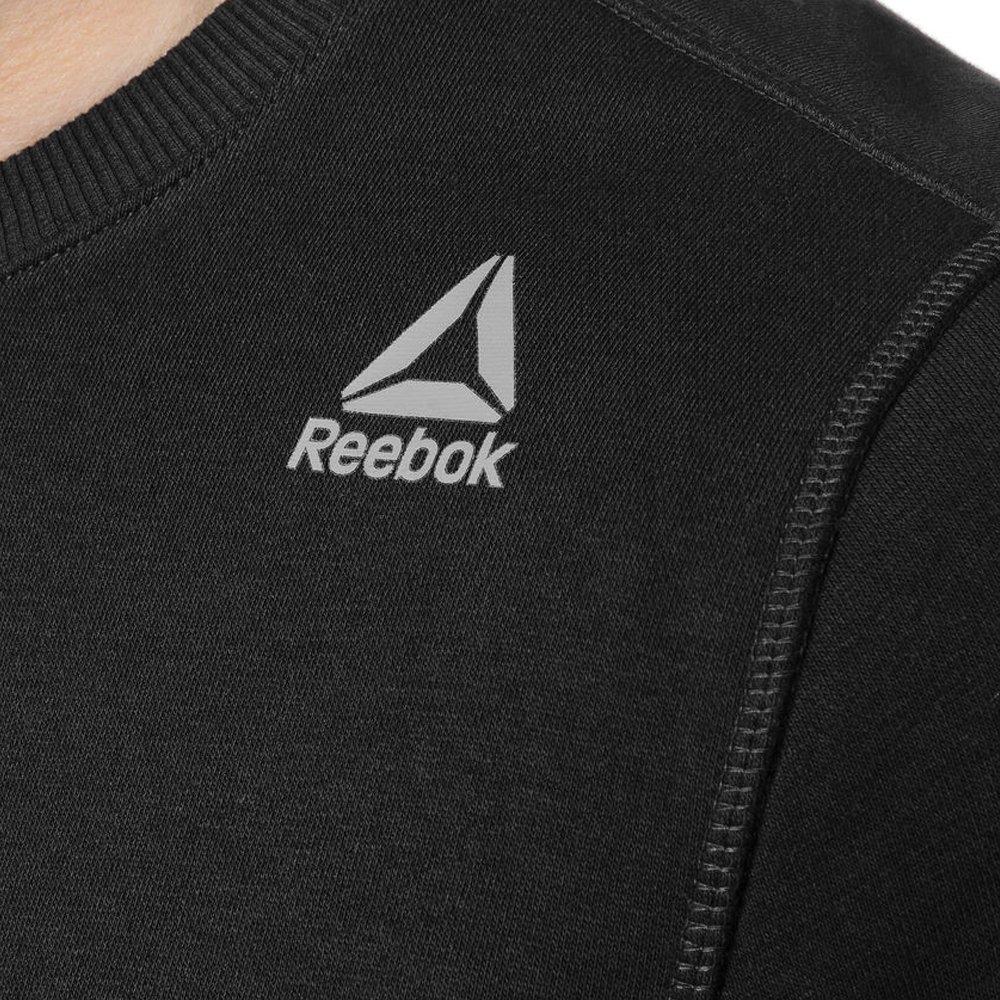 reebok elements fleece crew czarna