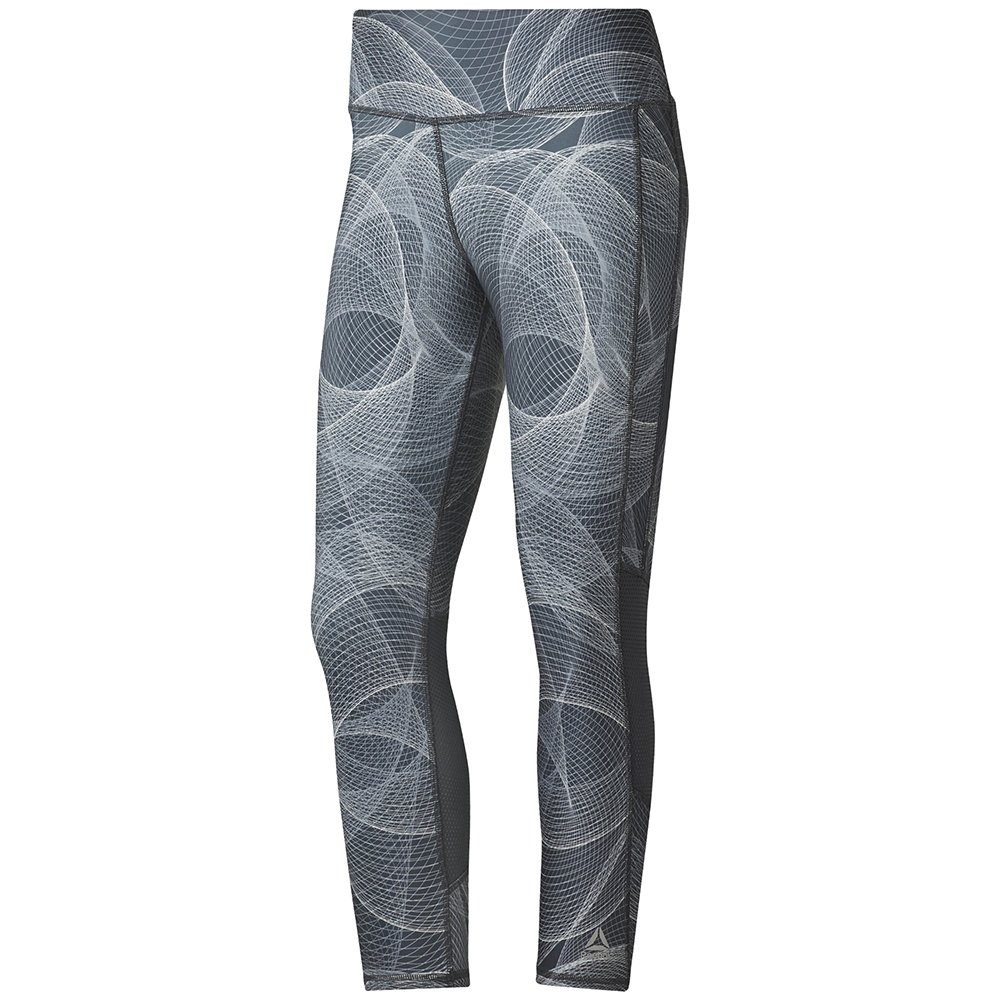 reebok running 3/4 tights w szare