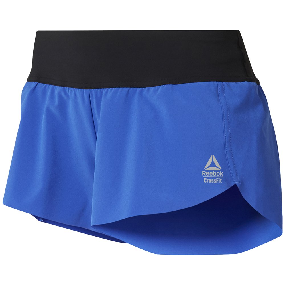 reebok crossfit knit waistband placed shorts w niebieskie