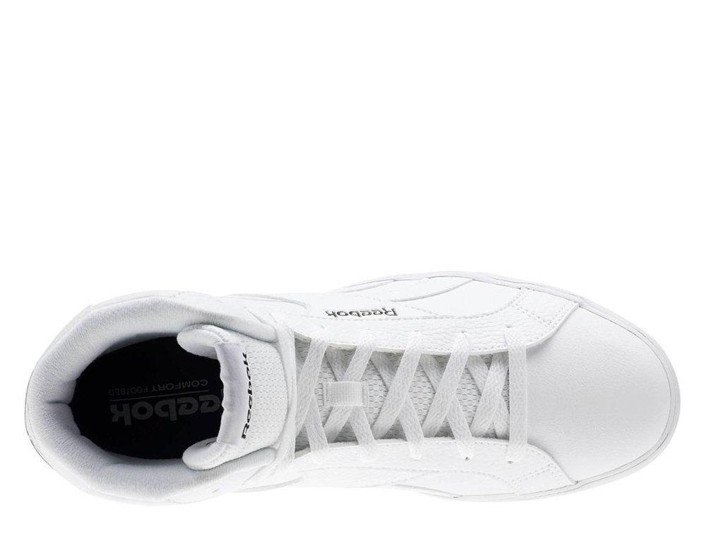 buty reebok royal comple white/white/black