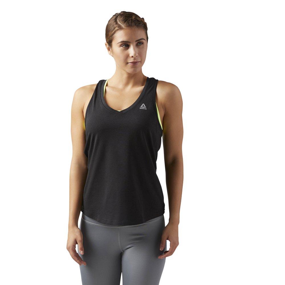 reebok workout ready mesh tank black