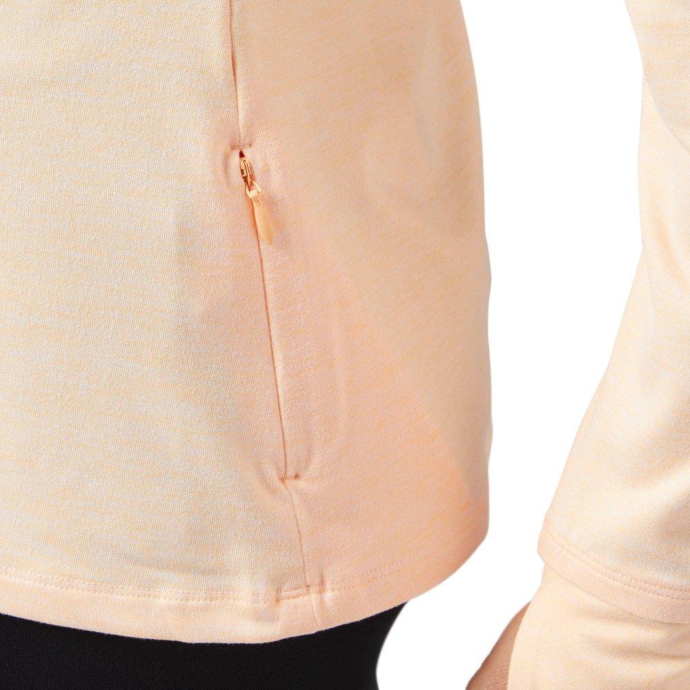 reebok quarter zip running jacket w piaskowa