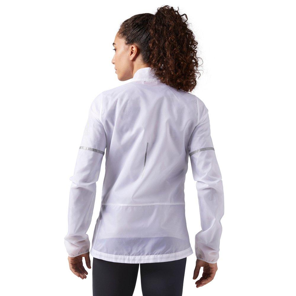 kurtka reebok run hero reflective jacket w biała