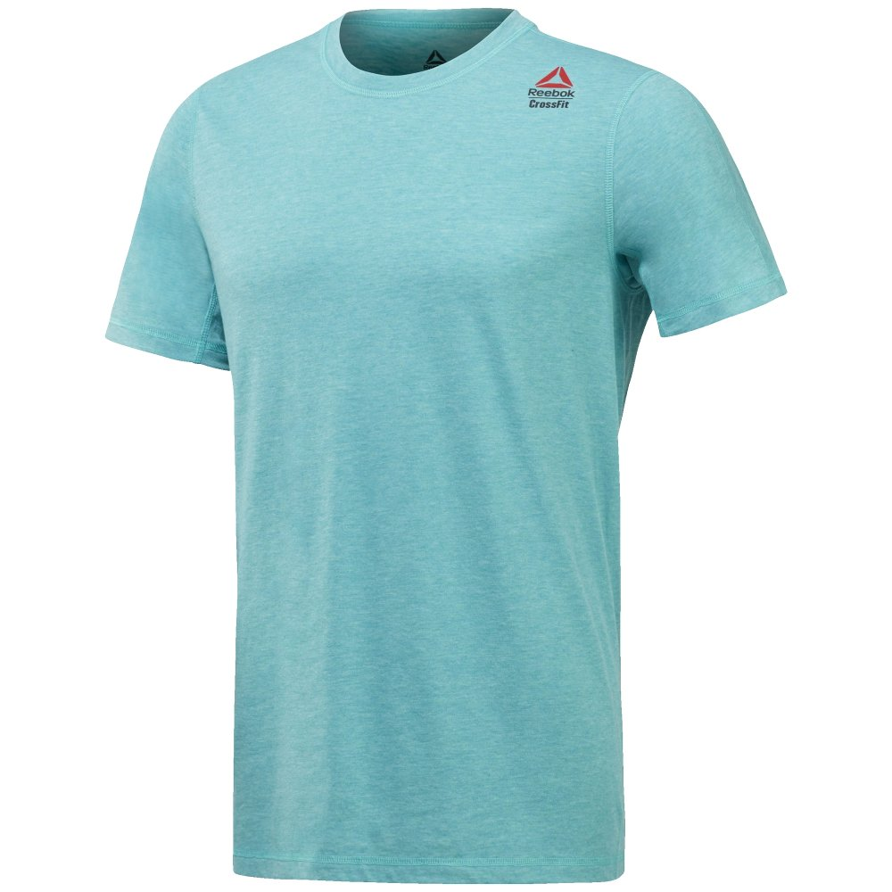 reebok crossfit performance blend graphic tee turquoise