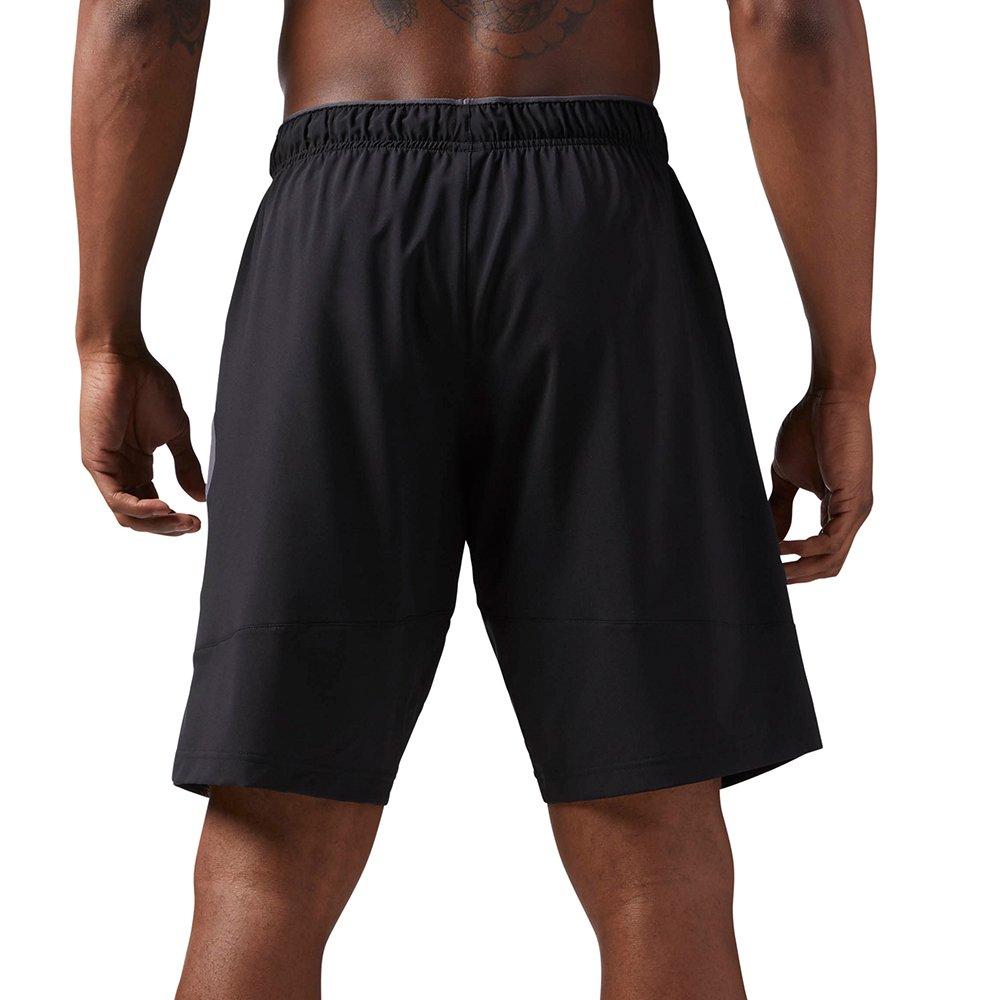 reebok woven performance short black