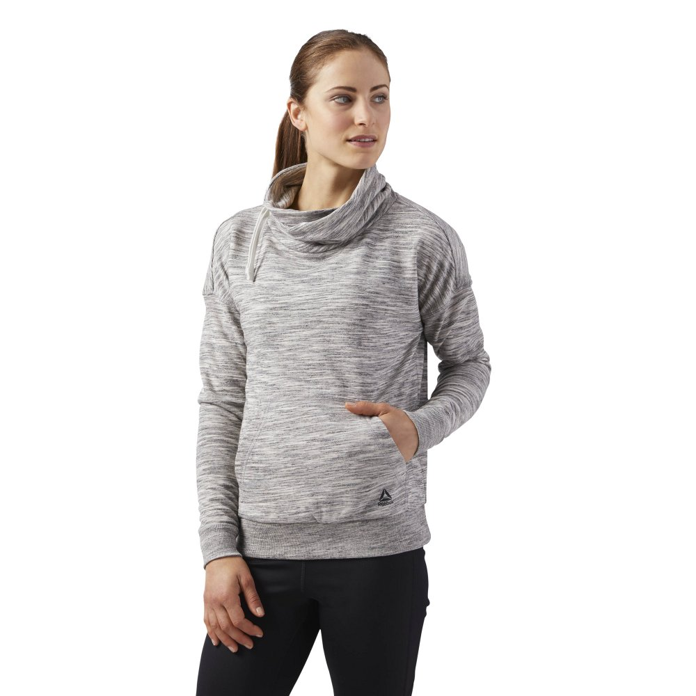 reebok elements cowl neck sweatshirt