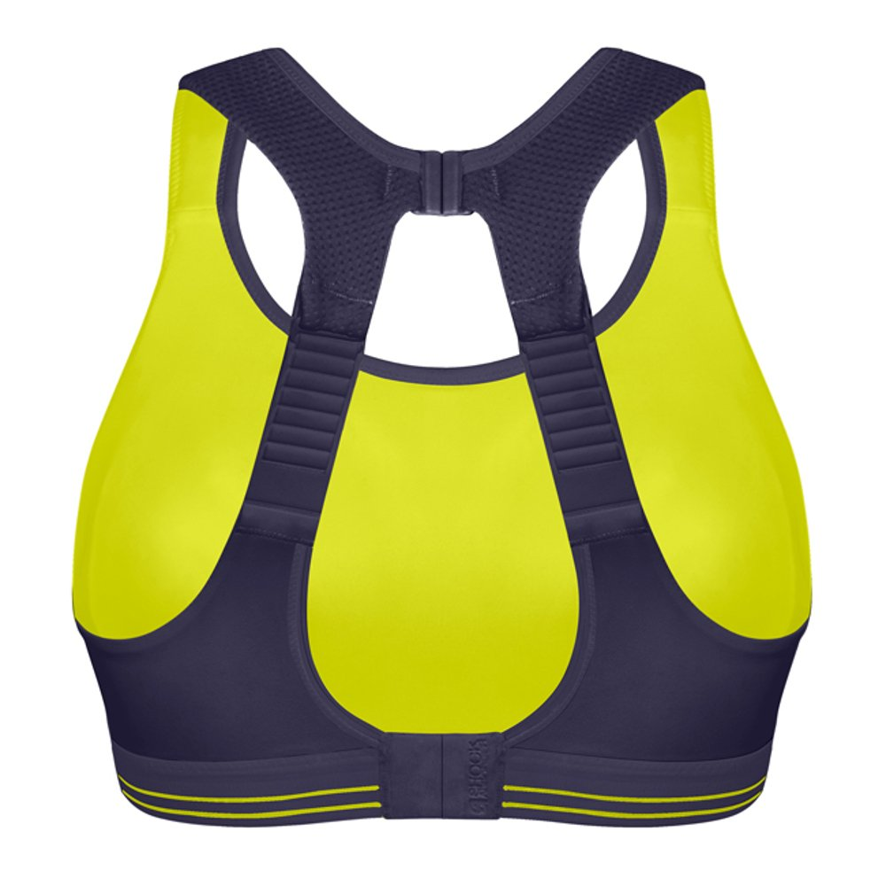 shock absorber ultimate run bra limonkowo-granatowy