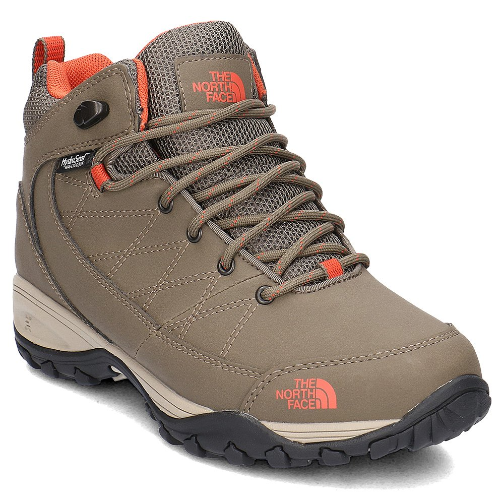 the north face storm strike wp insulated boots w beżowo-brązowe