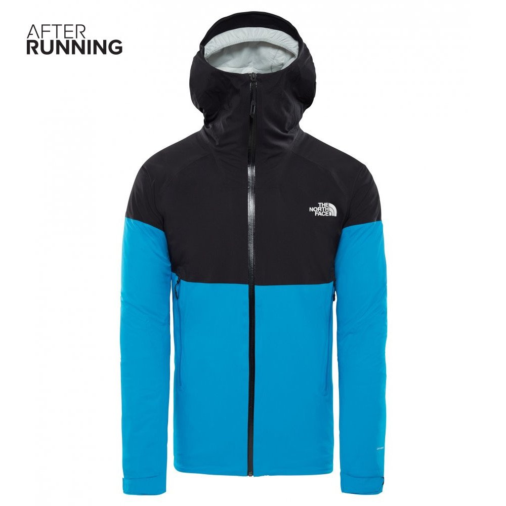 the north face impendor insulated jacket m czarno-niebieska