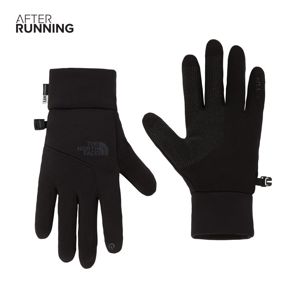the north face etip gloves czarne