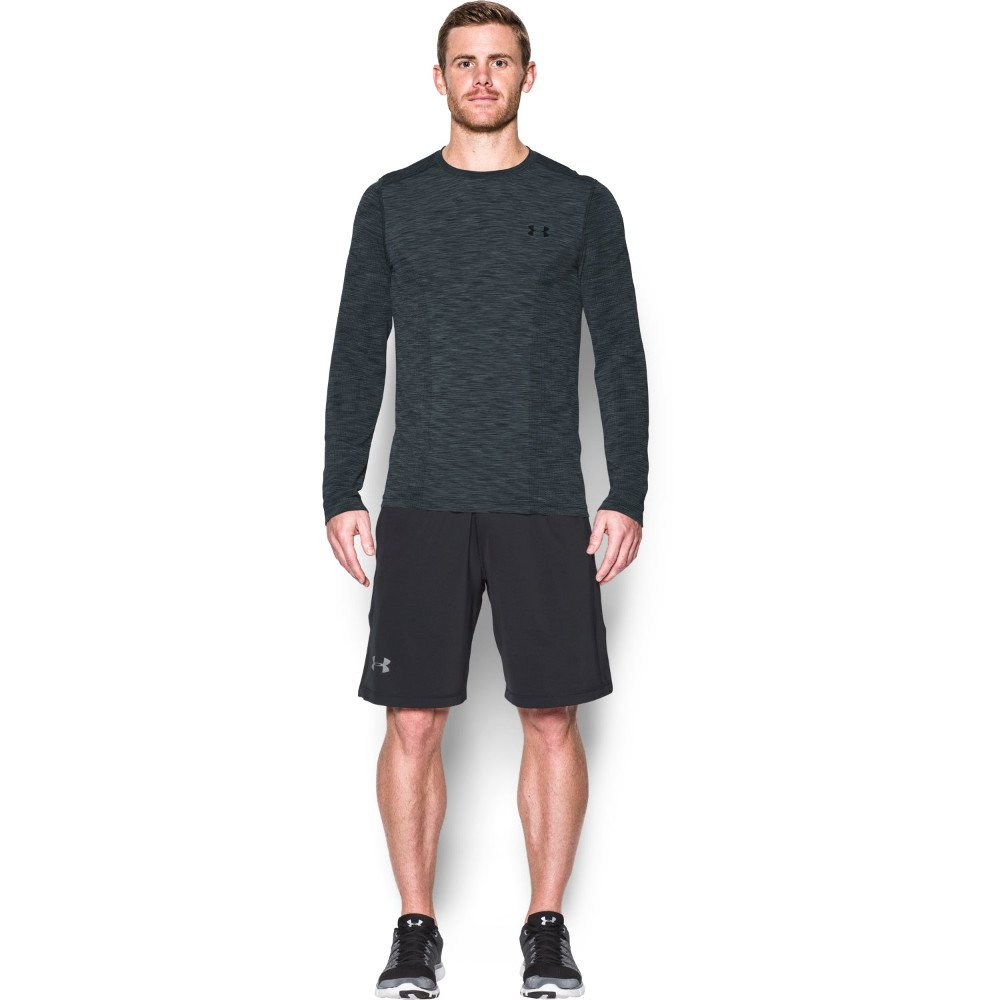 under armour threadborne seamless ls t-shirt m grafitowa