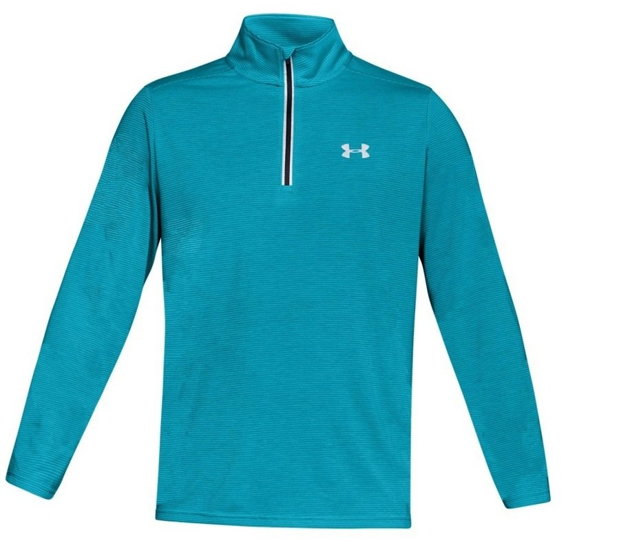 under armour threadborne streaker 1/4 zip m turkusowo-niebieska