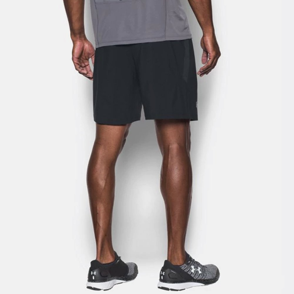 under armour launch sw 7'' short black reflective