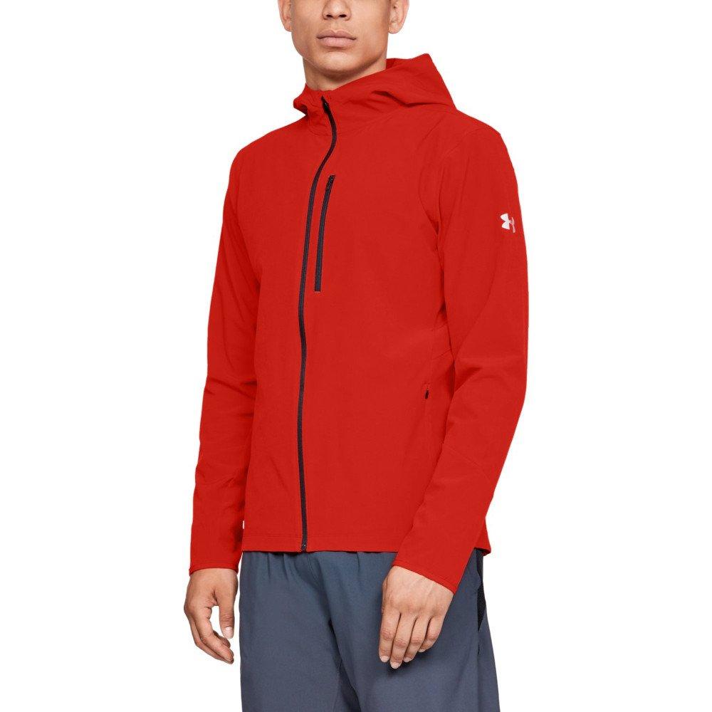 under armour outrun the storm jacket m czerwona