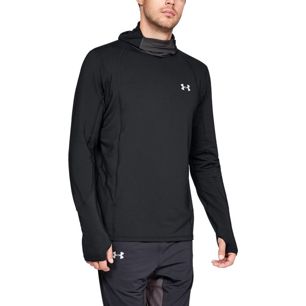 under armour ua reactor run balaclava hoodie m czarna