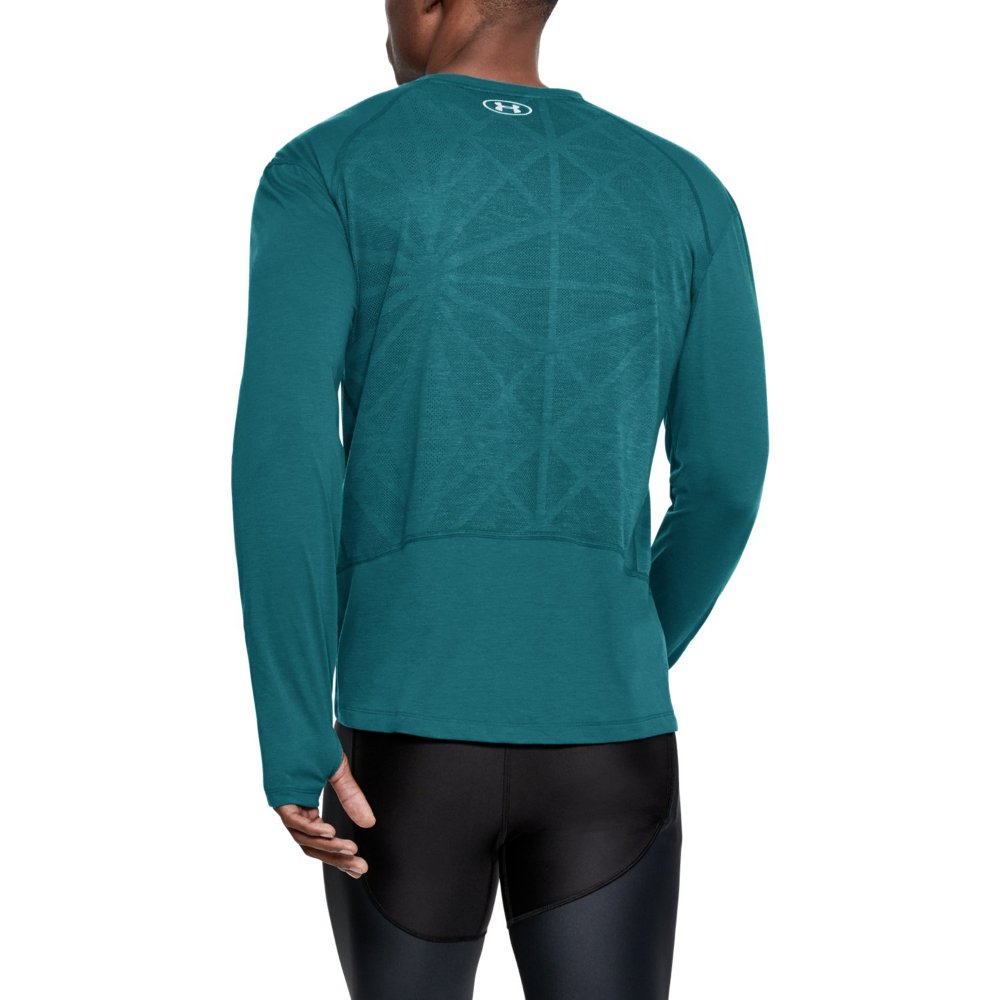 under armour threadborne seamless long sleeve m niebiesko-zielona