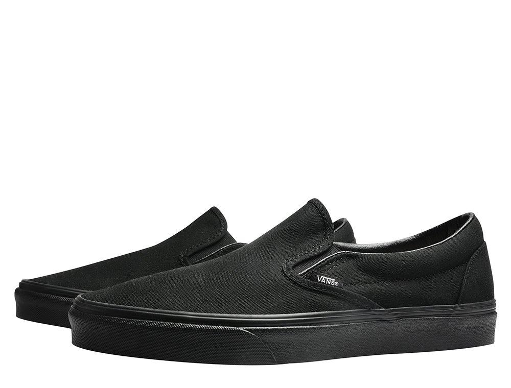 buty vans ua classic slip-on black/black