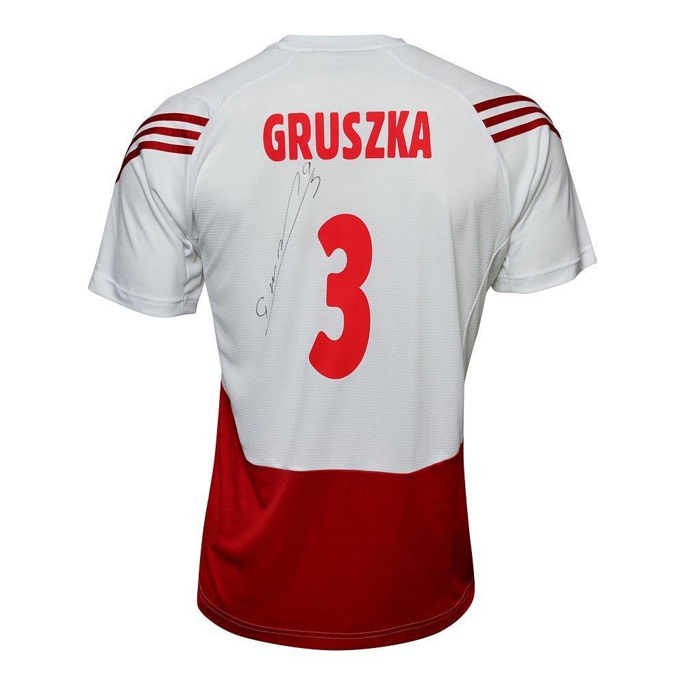 koszulka adidas reprezentacji polski z podpisem piotra gruszki