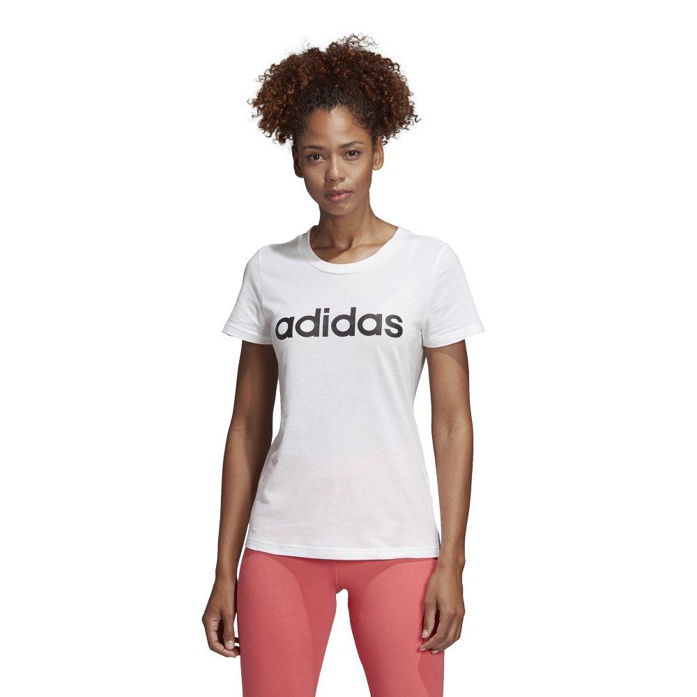 adidas Essentials Linear Slim Tee biało czarna