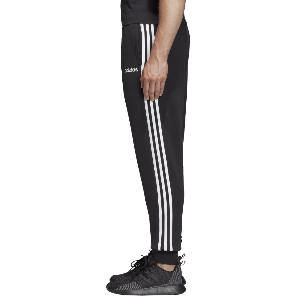adidas essentials 3-stripes tapered cuffed pants