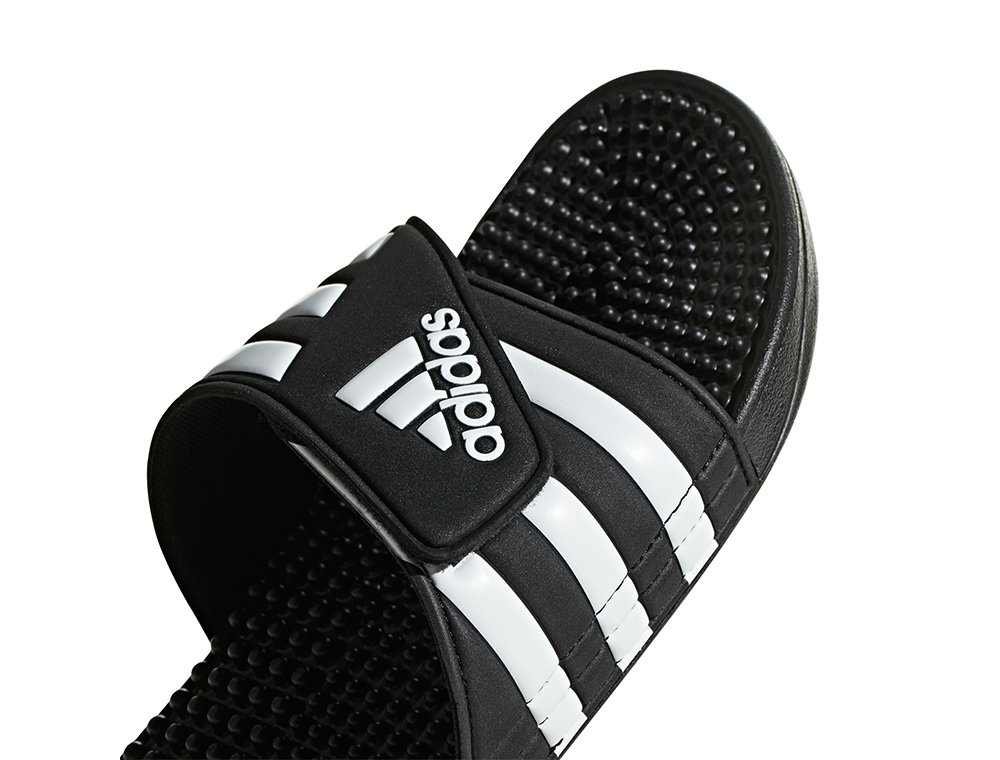 adidas adissage m czarno-białe