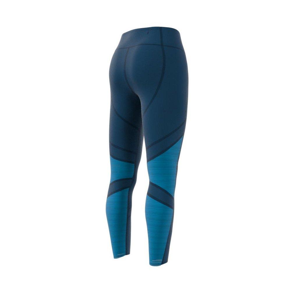 adidas how we do 7/8 light tights w błękitno-niebieskie