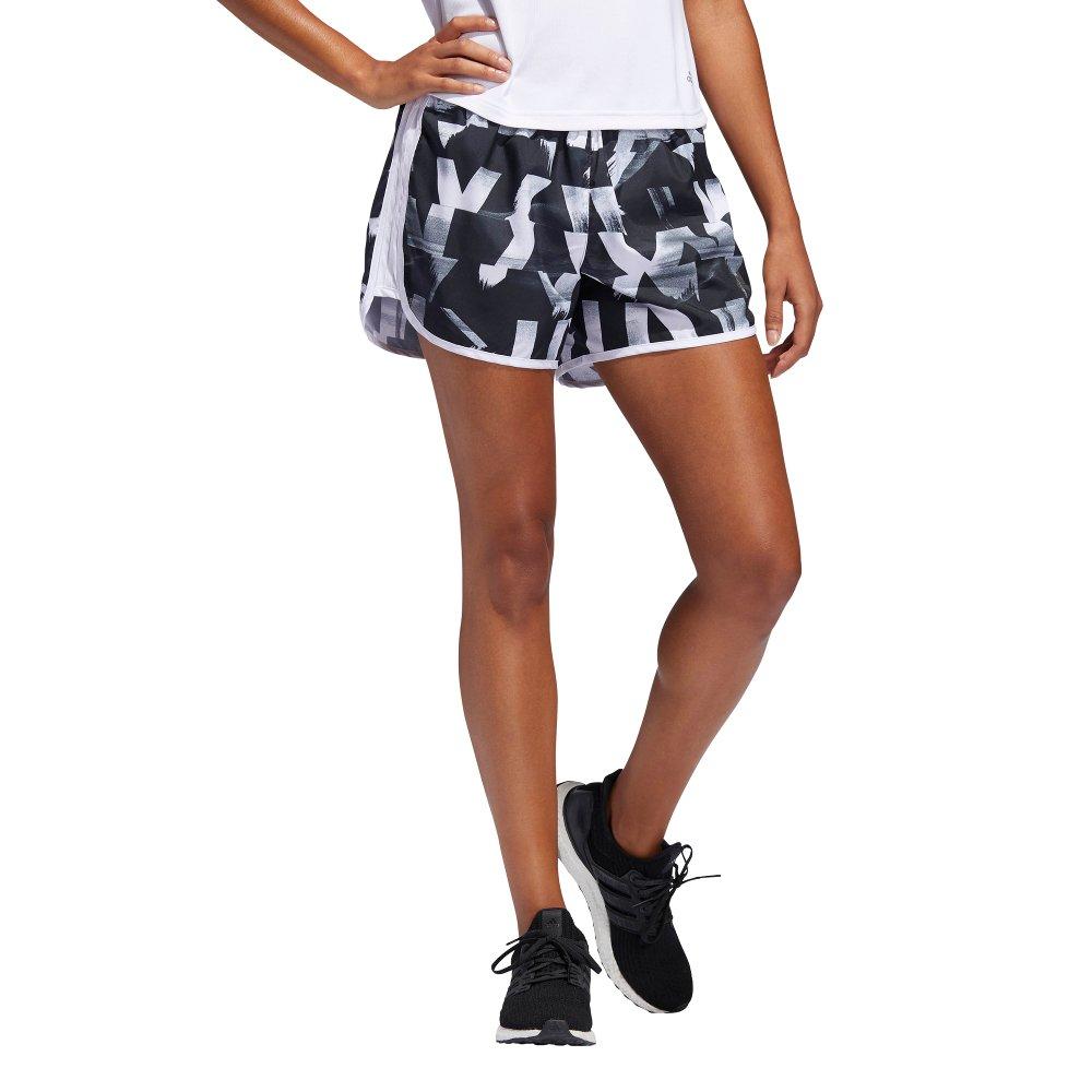 adidas marathon 20 speed splits shorts w czarno-białe