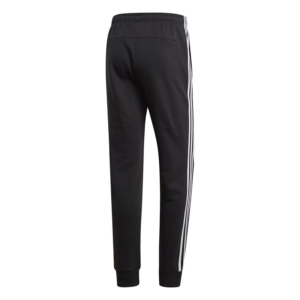 adidas Essentials 3 Stripes Tapered Pant czarno białe