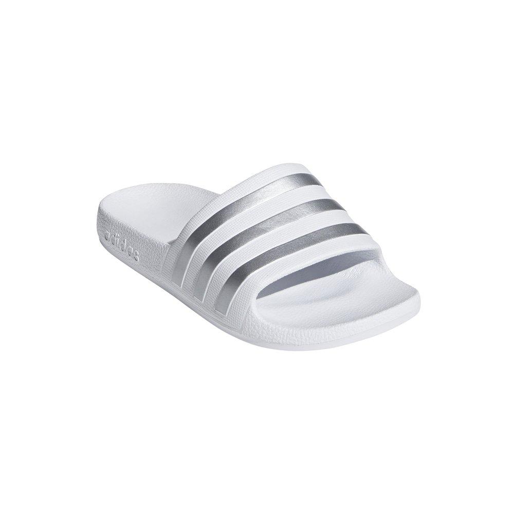 adidas adilette aqua k młodzieżowe białe (f35555)