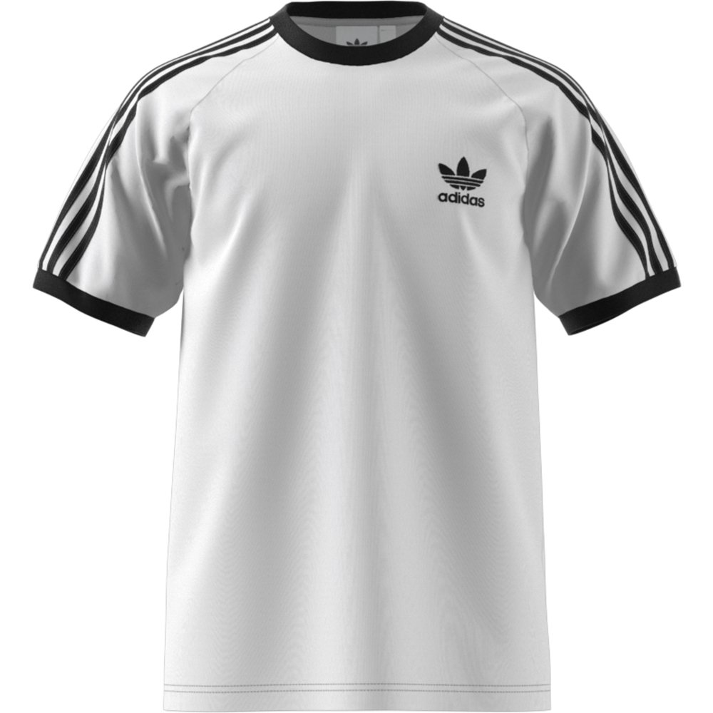 Koszulka męska adidas 3 Stripes Tee biała CW1203