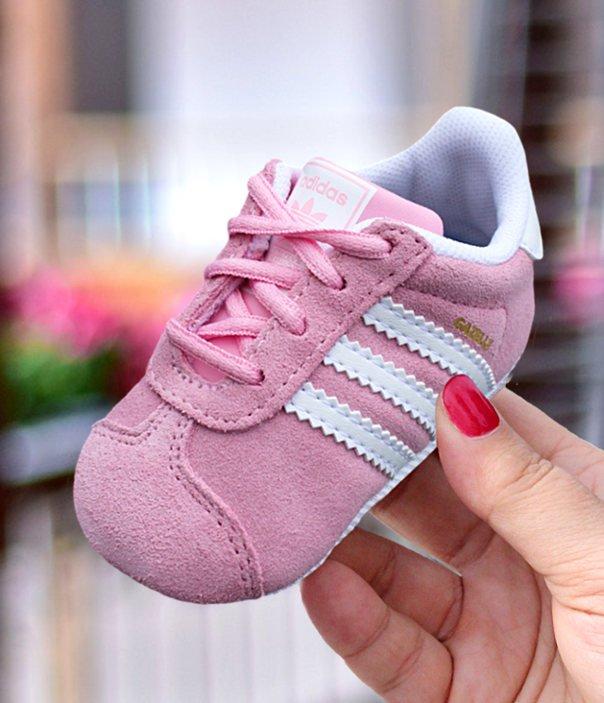 adidas Gazelle Crib różowo białe